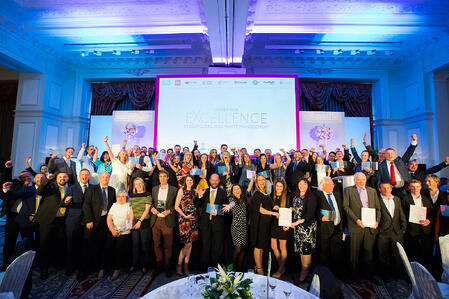 The finalists and winners at the Awards for Excellence in Recycling and Waste Management 2018